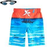 ZeroXposur Boys 4-7 Sharks & Reef Swim Trunks with Goggles