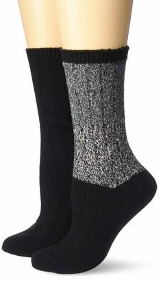 Steve Madden Legwear Women's 2PK Marled Colorblock Boot Socks SM45550