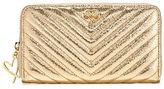 Victoria's Secret Victorias Secret V-Quilt Metallic Crackle Large Wallet