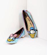 Irregular Choice Blue Glitter Donald & Daisy Whoa! Flats Shoes
