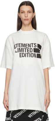 Vetements White Limited Edition Big Logo T-Shirt
