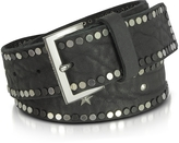 Zadig & Voltaire Black Studded Leather Starlight Belt