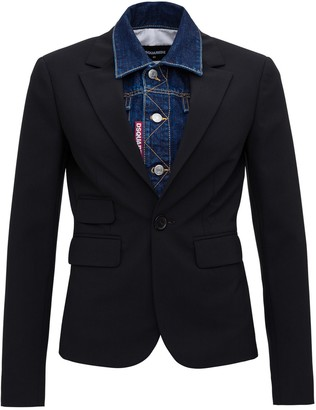 DSQUARED2 Double-layered Denim Jacket
