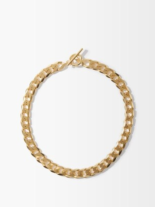 All Blues - Moto Curb-chain Gold-vermeil Necklace - Gold