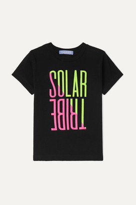 Paradised Kids - Neon Printed Cotton-jersey T-shirt - Black