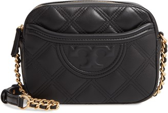 Tory Burch Fleming Quilted Leather Camera Bag