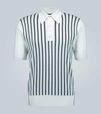 Dolce & Gabbana Striped silk polo shirt