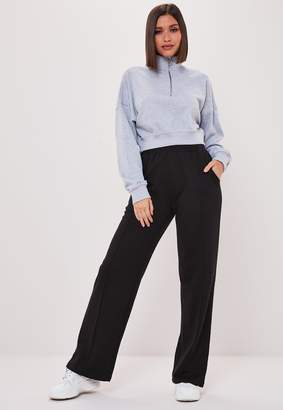 Missguided Black Co Ord Wide Leg Joggers