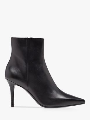 Dune Orlia Leather Stiletto Ankle Boots