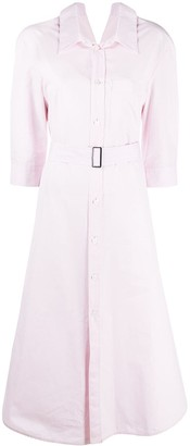 Marni Belted 3/4 Sleeves Shirt Dress