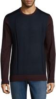Toscano Men's Colorblock Crewneck Sweater