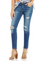 Joe's Jeans The Icon Destructed Mid Rise Skinny Jeans
