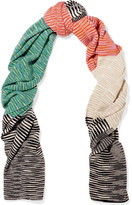 Missoni Striped Cashmere Scarf - Ivory