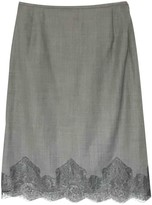 Escada Grey Wool Skirt for Women