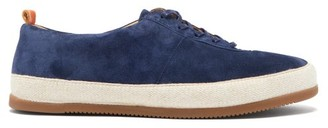 Mulo - Panelled Suede Trainers - Navy