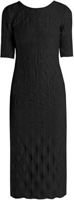 Giorgio Armani Jersey Pucker Midi Dress