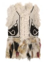 Bazar Deluxe Leather And Fur Waistcoat