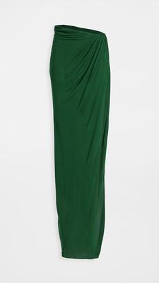 Brandon Maxwell Jersey Floor Length Wrap Skirt