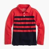 J.Crew Boys' long-sleeve polo shirt in placed stripe