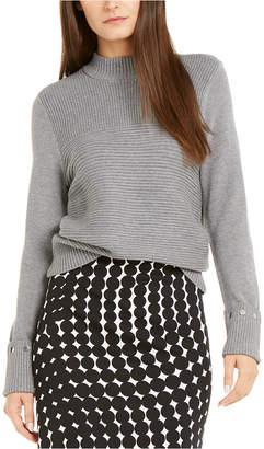 Alfani Embellished Ribbed-Knit Sweater