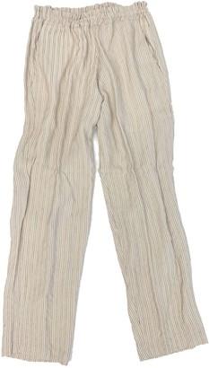 Merritt Charles Harper Trouser-Creme Stripe