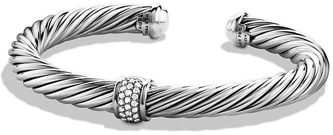 David Yurman Cable Classics Bracelet with Diamonds & White Gold