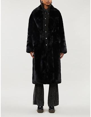 Anine Bing Sasha faux-fur coat