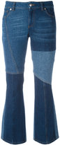 Alexander McQueen panelled kick flare jeans - women - Cotton - 38