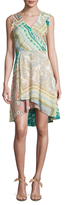 Plenty by Tracy Reese Surplice High Low Dress