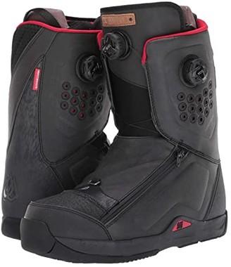 DC Travis Rice Dual BOA(r) Snowboard Boot (Black) Men's Snow Shoes