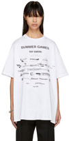 Raf Simons White 'Sumer Games' Easy Fit T-Shirt
