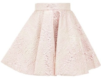 Dolce & Gabbana High-rise Textured Metallic Mini Skirt - Pink Multi