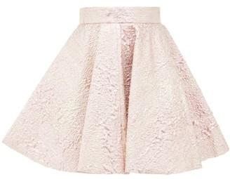 Dolce & Gabbana High-rise Textured Metallic Mini Skirt - Womens - Pink Multi