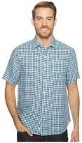 Tommy Bahama Check Stamos Camp Shirt Men's Short Sleeve Button Up