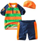 Harveyman Boy's 3pc Seahorse Surfboard Swimwear Set