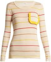 Sonia Rykiel Ruffle-trim striped sweater