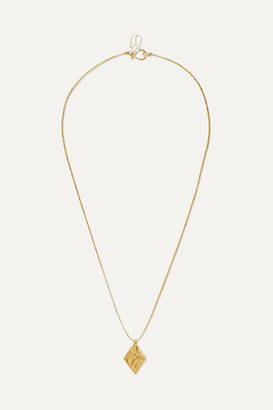 Pippa Small 18-karat Gold And Cord Necklace