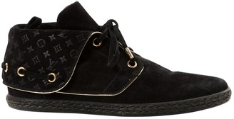 Louis Vuitton Black Suede Lace ups