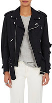 Comme des Garcons Women's Wool Ruffled Moto Jacket