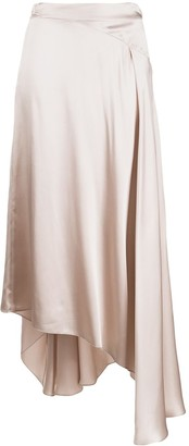 Le Kasha Qargan asymmetric silk skirt