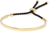 Monica Vinader Fiji Gold Vermeil And Woven Bracelet - one size
