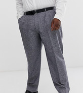 Twisted Tailor plus tapered pants in tweed