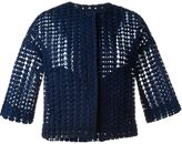 P.A.R.O.S.H. crocheted cropped jacket - women - Polyester - S