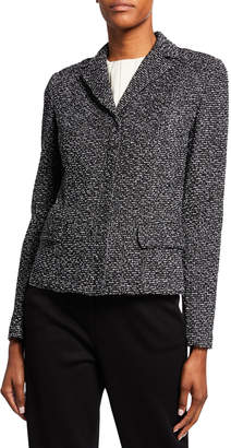 St. John Textured Boucle Tweed Jacket with Flap Pockets