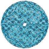 Asstd National Brand 20 Decorative Blue Sequin Snowflake Pattern Mini Christmas Tree Skirt