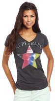 Southpole Juniors V-Neck Sequins Tee