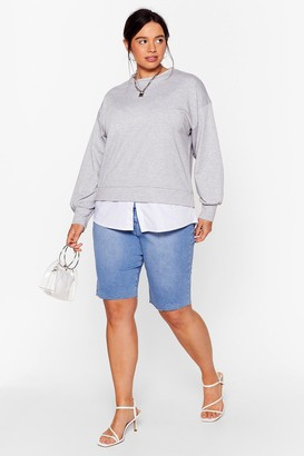 Nasty Gal Womens Chill Next Time Plus Relaxed Sweatshirt - Grey