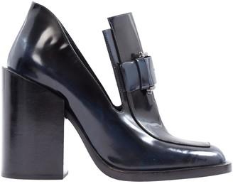Jil Sander Navy Leather Heels