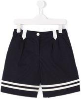 Dolce & Gabbana striped hem shorts - kids - Cotton/Polyamide/Spandex/Elastane - 10 yrs