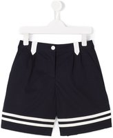 Dolce & Gabbana striped hem shorts - kids - Cotton/Polyamide/Spandex/Elastane - 6 yrs